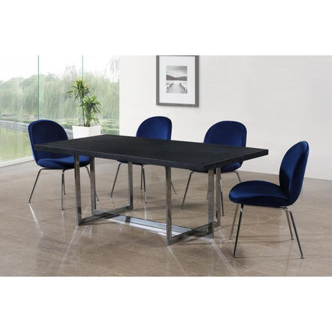 Meridian Furniture Elle Chrome Dining Table - Dining Tables