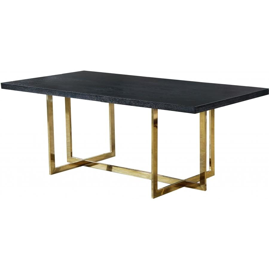 Meridian Furniture Elle Gold Dining Table - Dining Tables