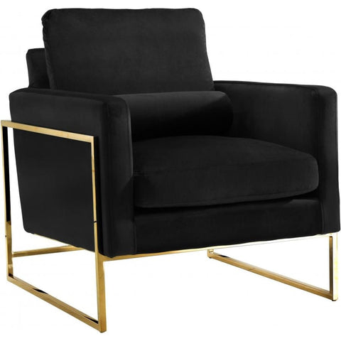 Meridian Furniture Mila Velvet Chair - Black - Chairs