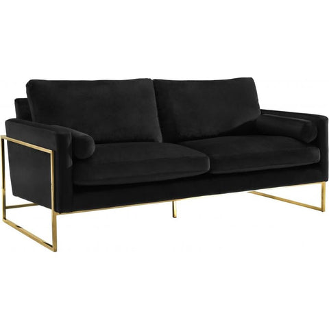 Meridian Furniture Mila Velvet Sofa - Black - Sofas