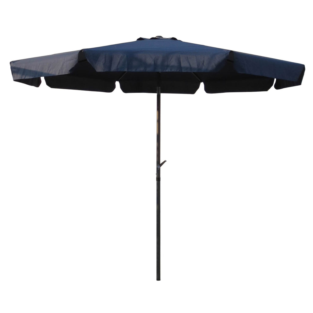 International Caravan Outdoor 8 Foot Aluminum Umbrella - Navy - Outdoor Furniture