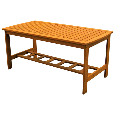 International Caravan Royal Tahiti Gulf Port Rectangular Wood Coffee Table - Coffee Tables