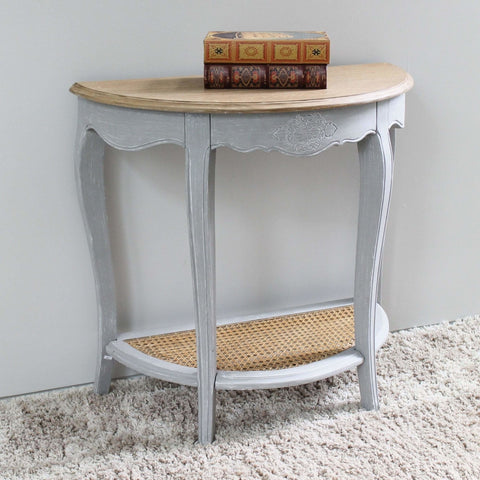 International Caravan Ashbury Stradivarius Oak Veneer Half-moon Wall Table - Antique Grey - Other Tables