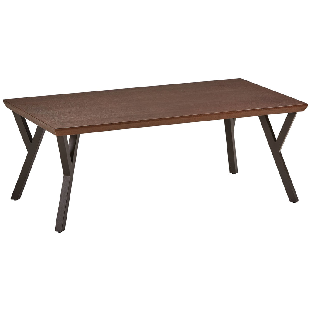 International Caravan Hamburg Contemporary Contemporary MDF/Metal Coffee Table - Coffee Tables