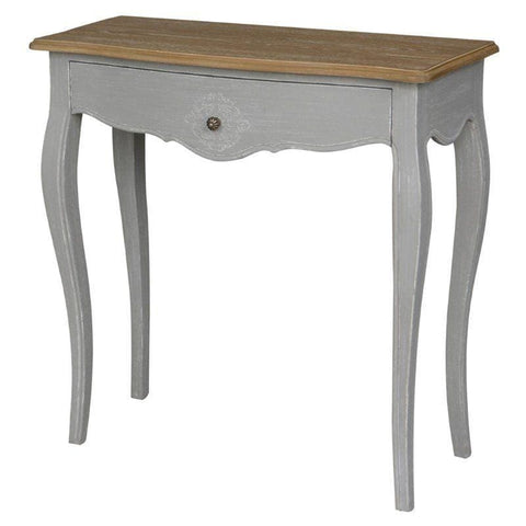 International Caravan Ashbury Stradivarius Oak Veneer One-drawer Console Table - Antique Grey - Other Tables