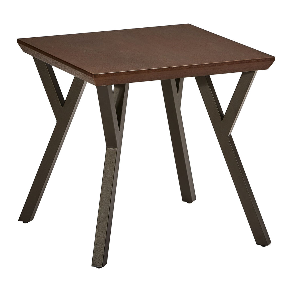 International Caravan Hamburg Contemporary Contemporary MDF/Metal End Table - Other Tables