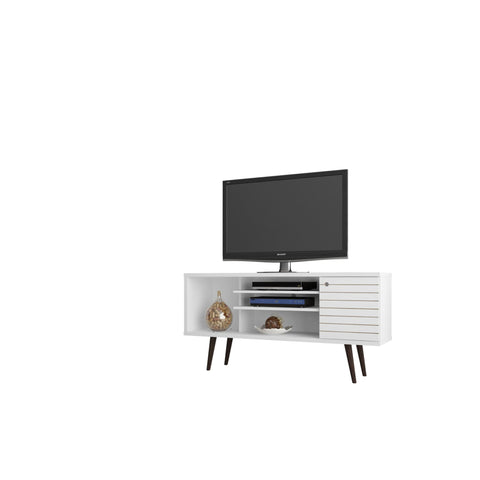 Manhattan Comfort Liberty 53.14 Mid Century - Modern TV Stand with 5 Shelves and 1 Door - TV Stands