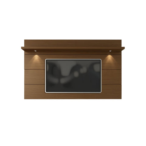 Manhattan Comfort Cabrini Floating Wall TV Panel 2.2 - Nut Brown - TV Stands