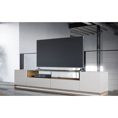 Manhattan Comfort Vanderbilt TV Stand with LED Lights - TV Stands