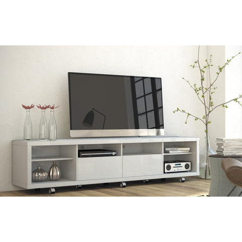 Manhattan Comfort Cabrini TV Stand 2.2 - White Gloss - TV Stands
