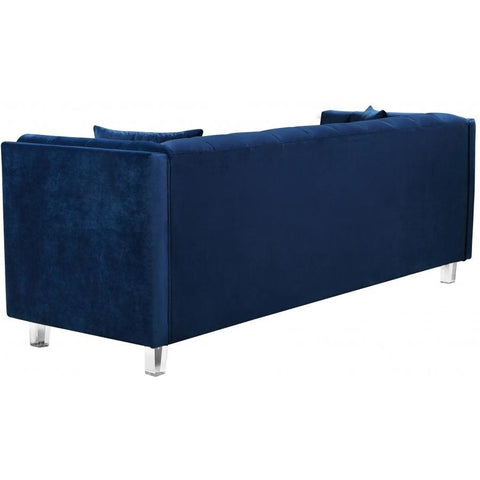 Meridian Furniture Mariel Velvet Loveseat - Navy - Loveseats