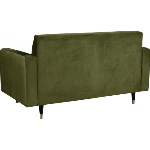 Meridian Furniture Lola Velvet Loveseat - Olive Green - Loveseats