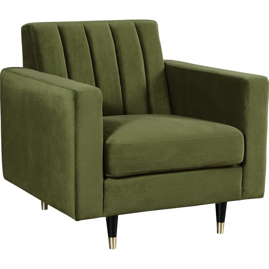 Meridian Furniture Lola Velvet Chair - Olive Green - Chairs