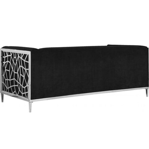 Meridian Furniture Opal Velvet Sofa - Black - Sofas
