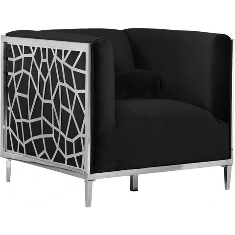 Meridian Furniture Opal Velvet Chair - Black - Chairs