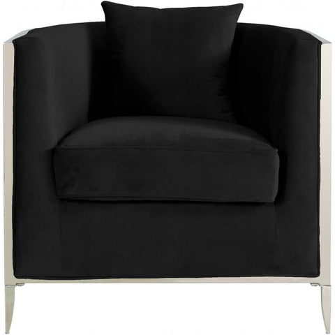 Meridian Furniture Circa Velvet Accent Chair - Black - Chairs