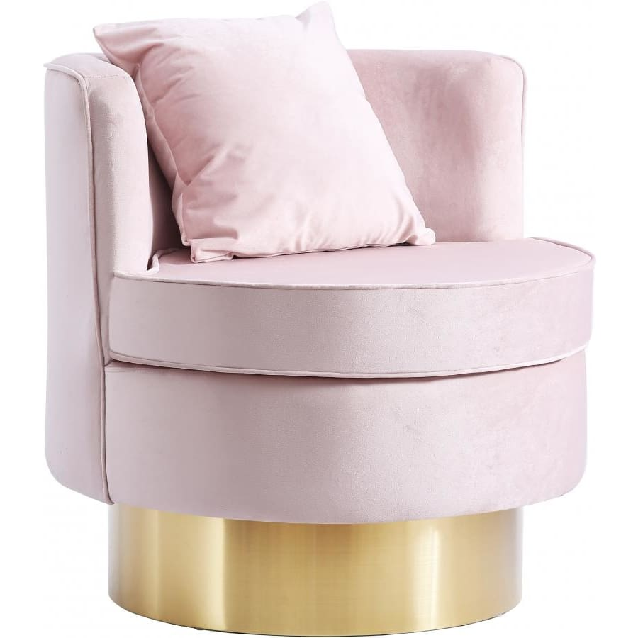 Meridian Furniture Kendra Velvet Accent Chair - Pink - Chairs