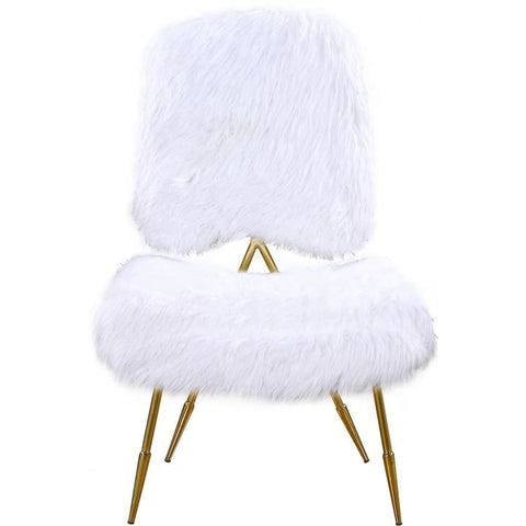 Meridian Furniture Magnolia Faux Fur Accent Chair-Set of 2 - Chairs