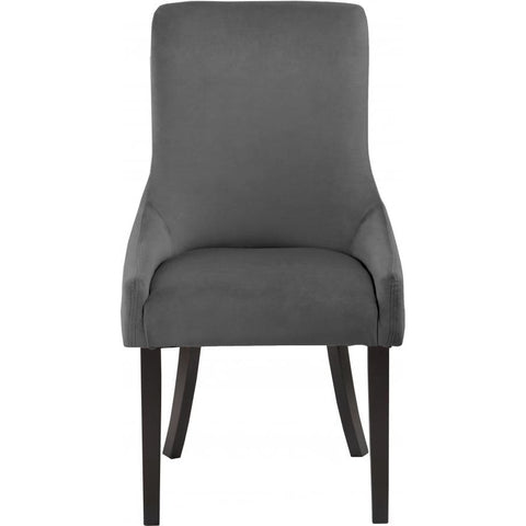 Meridian Furniture Demi Velvet Dining Chair-Set of 2 - Grey - Dining Chairs