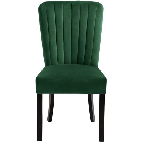 Meridian Furniture Shelby Velvet Dining Chair-Set of 2 - Green - Dining Chairs