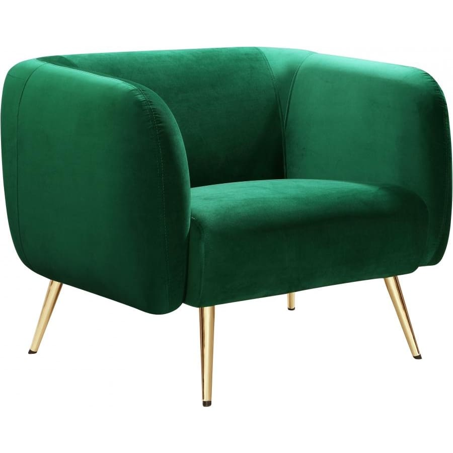 Meridian Furniture Harlow Velvet Chair - Green - Chairs