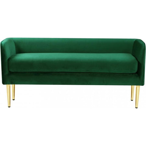 Meridian Furniture Audrey Velvet Bench - Green - Benches