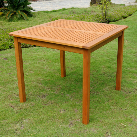 International Caravan Royal Tahiti Outdoor Wood 32 Square Table - Outdoor Furniture