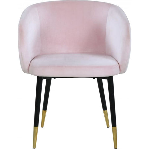 Meridian Furniture Louise Velvet Dining Chair-Set of 2 - Pink - Dining Chairs