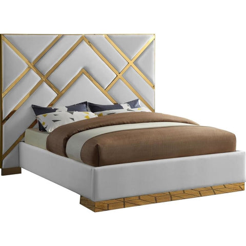 Meridian Furniture Vector Faux Leather King Bed - Bedroom Beds