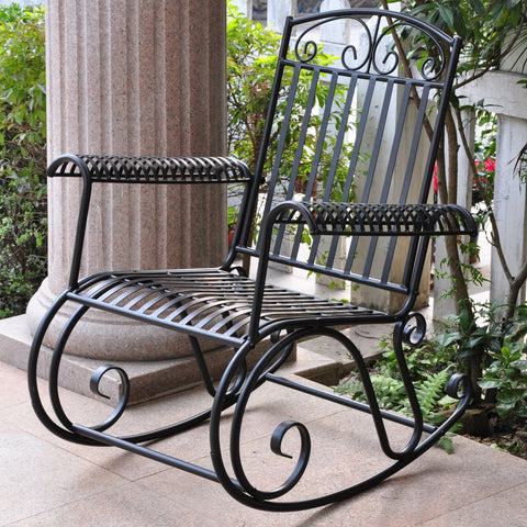 International Caravan Iron Tropico Rocker - Outdoor Furniture