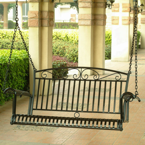 International Caravan Iron Tropico Swing - Outdoor Furniture
