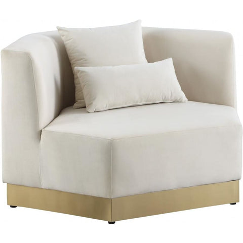Meridian Furniture Marquis Velvet Chair - Cream - Chairs