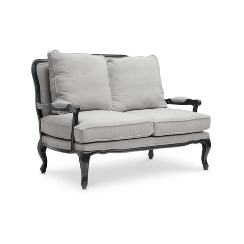 Baxton Studio Antoinette Classic Antiqued French Loveseat - Living Room Furniture
