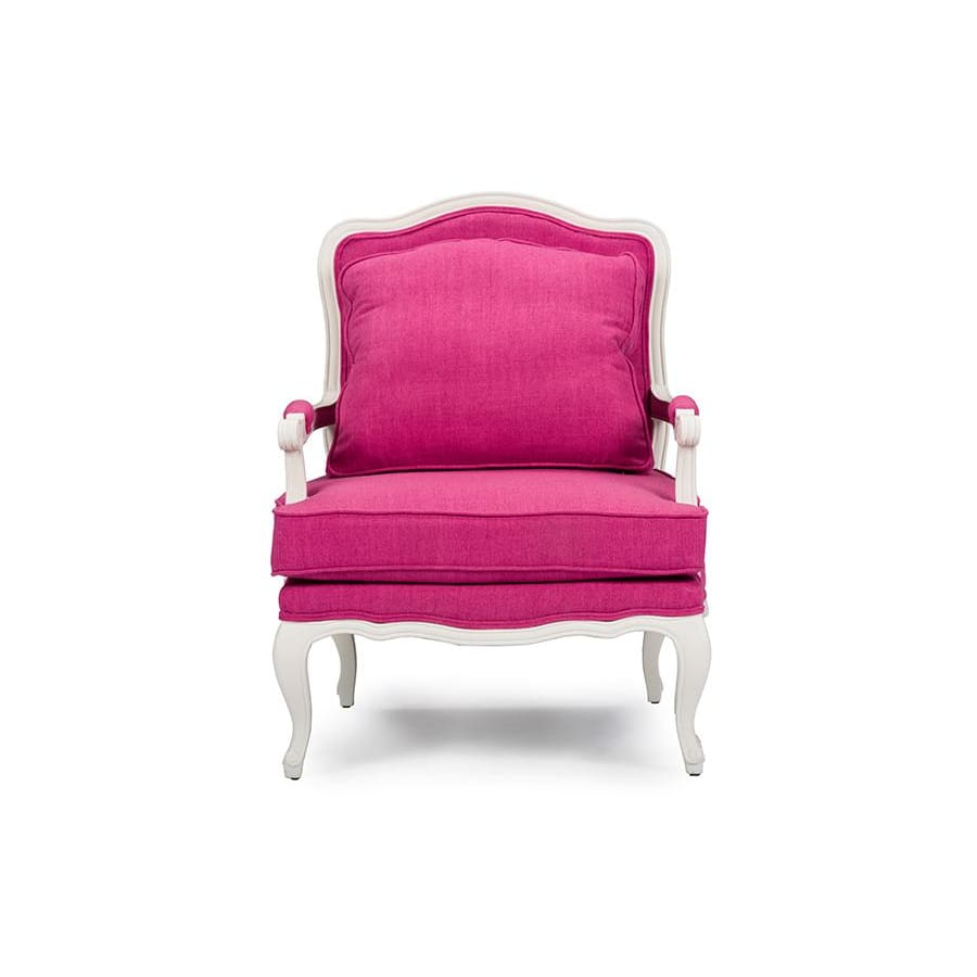Baxton Studio Antoinette Classic Antiqued Pink Fabric French Accent Chair - Living Room Furniture