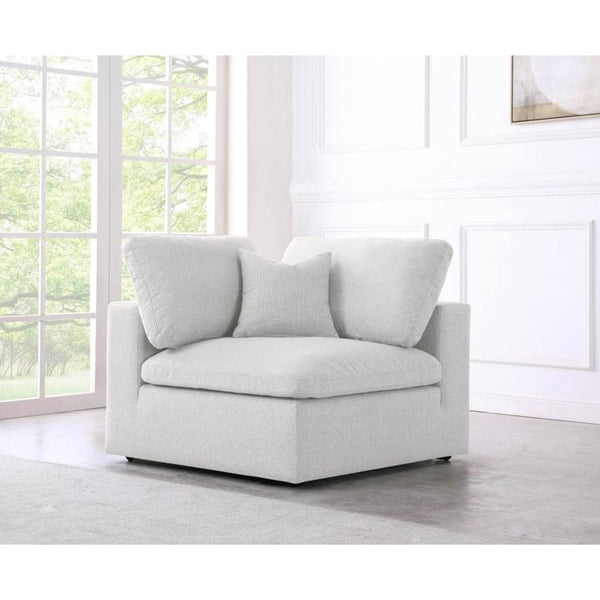 Meridian Furniture Serene Linen Deluxe Cloud Modular Down Filled Overstuffed Chair - Chairs