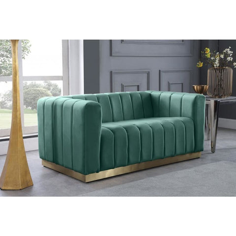 Meridian Furniture Marlon Velvet Loveseat - Loveseats