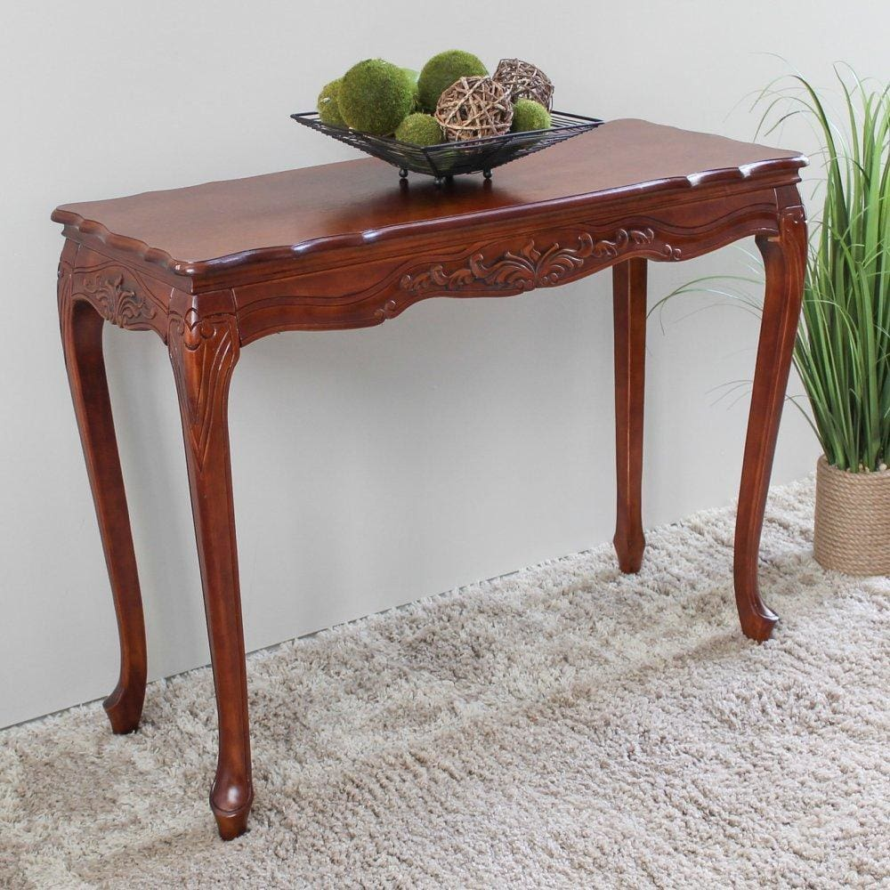 International Caravan Carved Wood Console Table - Other Tables