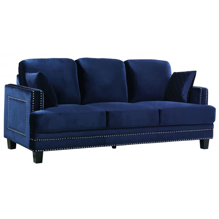 Meridian Furniture Ferrara Velvet Sofa - Navy - Sofas