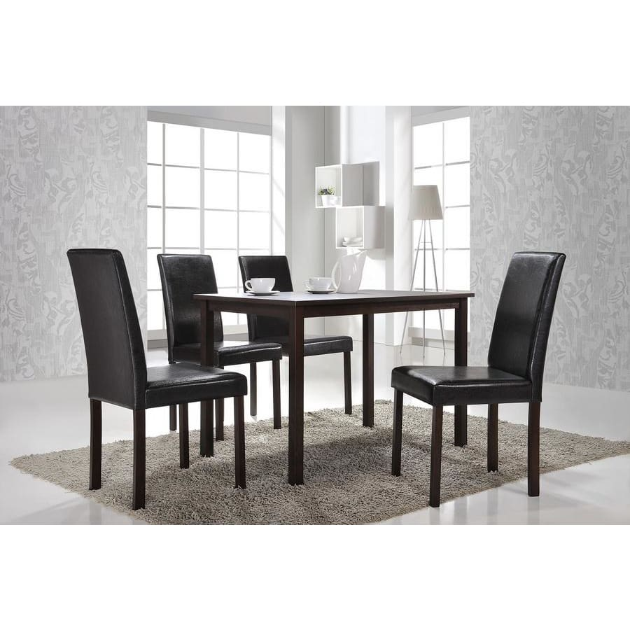 Baxton Studio Andrew 5-Piece Modern Dining Set - Dining Room