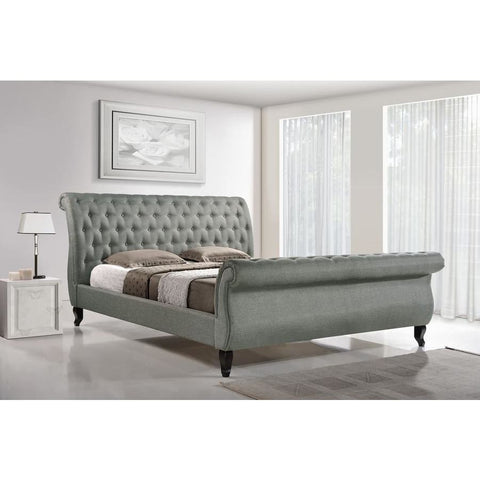 Baxton Studio Antoinette Grey Modern Platform BedQueen - Bedroom Furniture