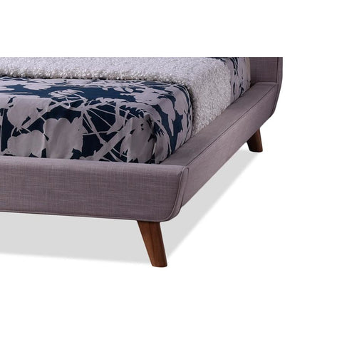 Baxton Studio Jonesy Scandinavian Style Mid-century Beige Fabric Upholstered King Size Platform Bed - Bedroom Furniture