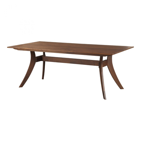 Moes Florence Rectangular Dining Table Small Walnut - Dining Tables