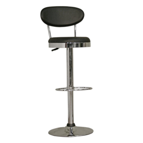 Baxton Studio Achilla Black Adjustable Barstool - Bar Furniture