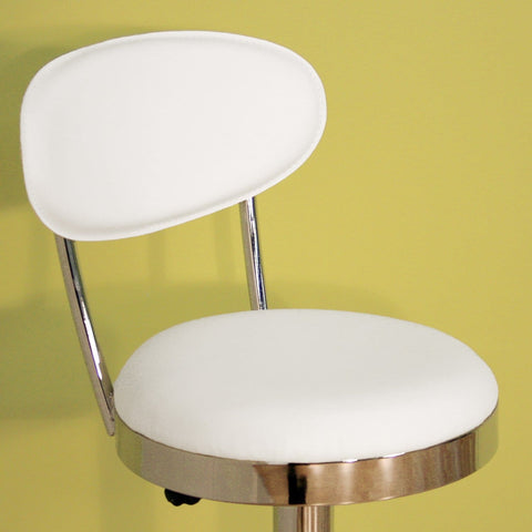Baxton Studio Achilla White Adjustable Barstool - Bar Furniture