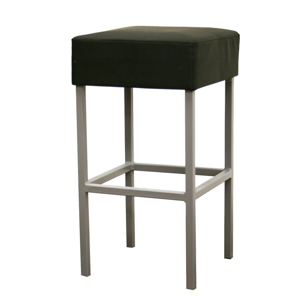 Baxton Studio Andante Black Faux Leather Counter Stool - Bar Furniture