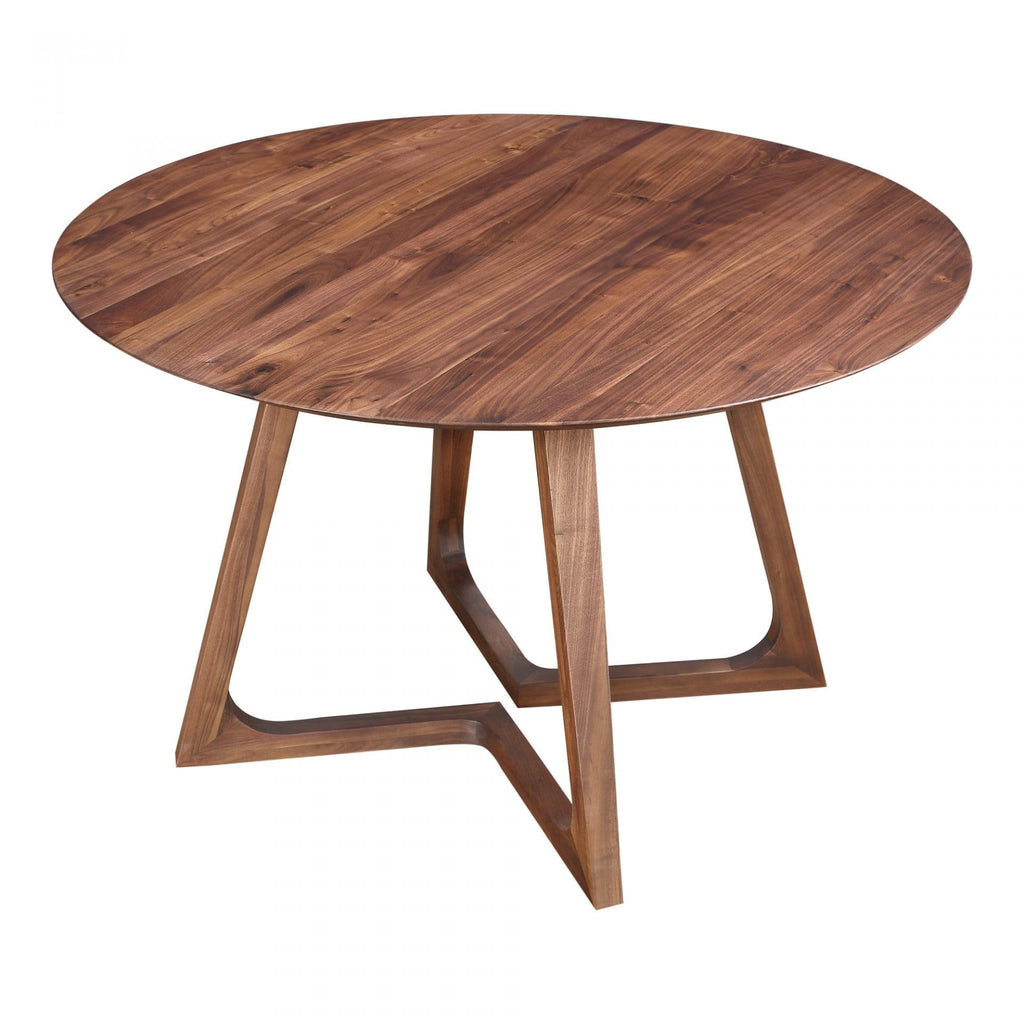 Moes Godenza Dining Table Round Walnut - Dining Tables
