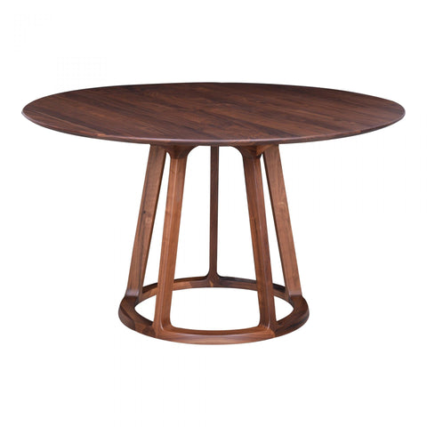 Moes Aldo Round Dining Table Walnut - Dining Tables