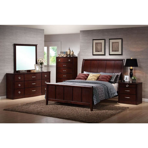 Baxton Studio Argonne King 5 Piece Wooden Modern Bedroom Set - Bedroom Furniture