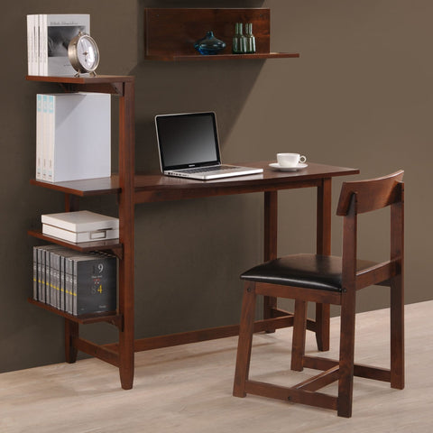 International Caravan Hamburg Study Set w/Side Shelf Desk and Chair - Desks
