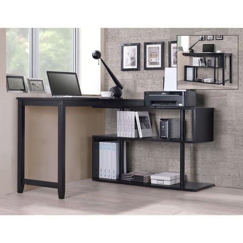 International Caravan Hamburg Contemporary Virginia Swing Out Desk - Black - Desks
